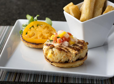 Harry's Poolside Bar & Grill - Crabcake Sandwich Shot